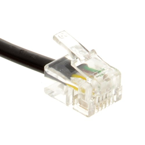 Kenable ADSL Broadband Modem Cable RJ11 to RJ11 Black 3m (~10 feet) by Kenable (Image #1)
