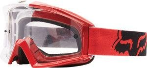 Fox Racing Main 180 Race Adult MX Motorcycle Goggles Eyewear - Red/Clear/One Size Fits All