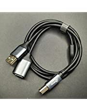 USB A Male & Female Splitter-Sluit aan op USB 2.0 B Mannelijke 2 Computer op één printer