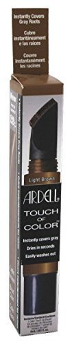 Ardell Touch Of Color Instant Gray Root Cover Applicator Brush - Light Brown by American ()