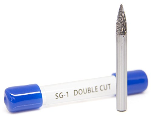 Pointed Tungsten Carbide Rotary Burr Double Cut (Silver) - 4