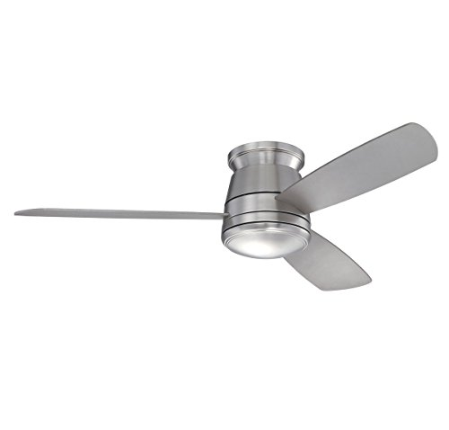 Savoy House 52-417H-3SV-SN Polaris Hugger 52 inch Ceiling Fan, Satin Nickel ()
