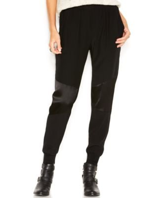 Sanctuary Womens Pull On Cuffed Casual Pants Black L