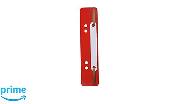 Durable Fastener Flexi - Paquete de 250 broches plásticos para carpetas, 34 x 450 mm, rojo: Amazon.es: Oficina y papelería