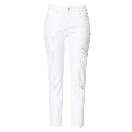 Summer 28 Nines Blancos hole Jeans Mujer color slim Rxf Tamaño Blanco Blanco q6ZSOtF