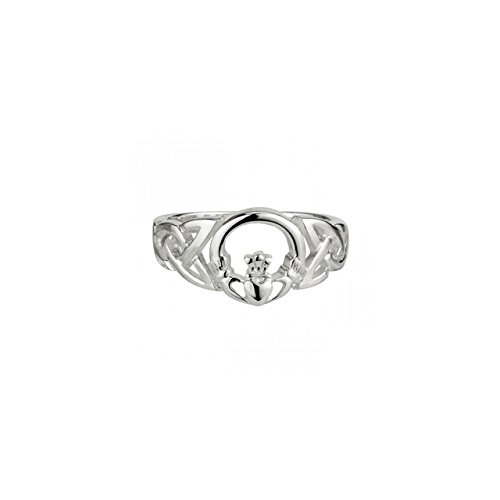 (Celtic Knot & Claddagh Ring Sterling Silver Sz 9)
