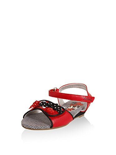 Sandalen für Mädchen DISNEY DM100040-B4010 RED-BLACK