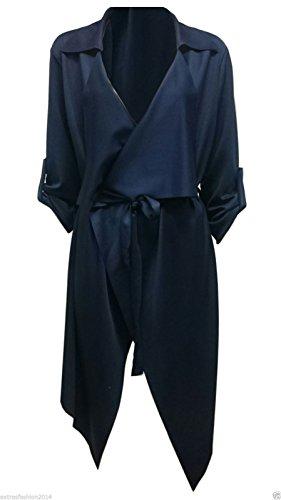 REAL LIFE FASHION LTS - Poncho - chaqueta - para mujer azul marino