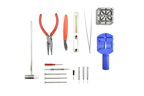 SE JT6221BL Watch Repair Tool Kit, Blue, - Glasses Repair All American