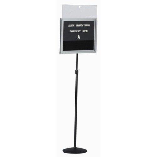 AARCO Single Pedestal Letter Board with Acrylic - Aarco Pedestal Single