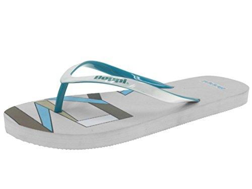 Beppi 2115950 Damen Badelatschen Zehentrenner Schwimmbadschuhe Weiß