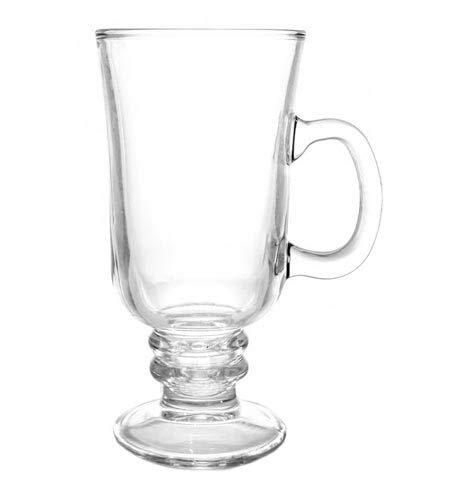 Clear Irish Coffee Glass Mug 8 oz (Set of 12) by BARCONIC