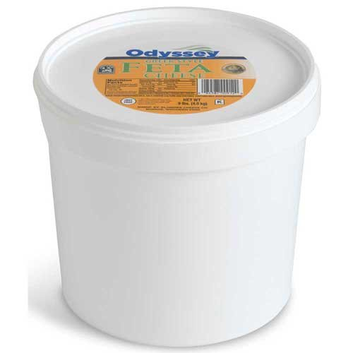 Odyssey Traditional Feta Cheese in Brine, 8 Pound - 2 per case.