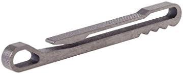 ESden Llavero con clip para cinturón y hebilla para colgar y sacacorchos de aleación de titanio