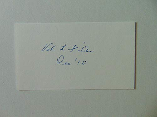 """""""Nobel Prize in Physics"""" Val Fitch Hand Signed 2X3.5 Card JG Autographs COA from Unknown"""