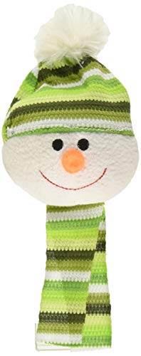 SPOT Ethical Holiday Snowball with Scarf Plush Dog Toy – Assorted Color