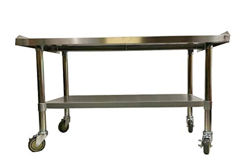 Commercial Stainless Steel Rolling Work Equipment Grill Stand 24x30 with Wheels - Kitchen Equipment Stand