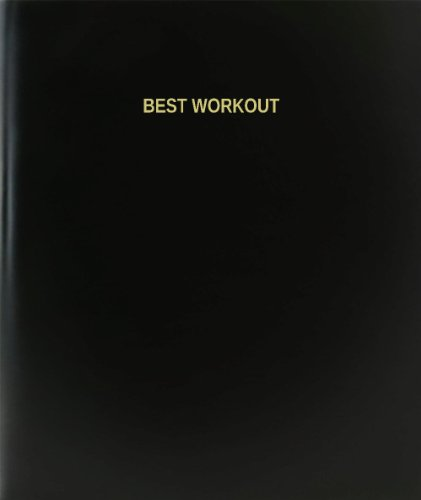 BookFactory® Best Workout Log Book / Journal / Logbook - 120 Page, 8.5''x11'', Black Hardbound (XLog-120-7CS-A-L-Black(Best Workout Log Book)) by BookFactory