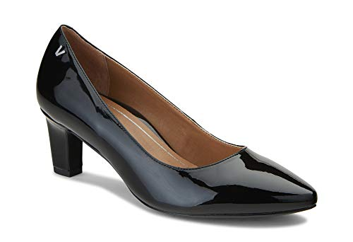 Vionic Women's Madison Mia Heels - Ladies Pumps with Concealed Orthotic Support Black Patent 11 W US