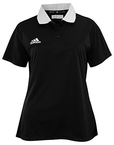 - adidas Women's Game Built Coaches Polo, Black-White Large