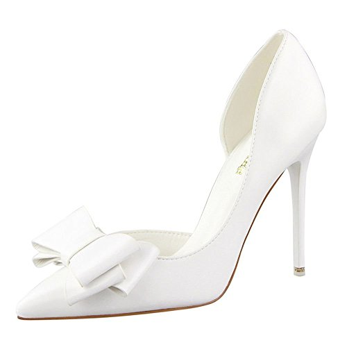 andee-womens-fashionable-elegance-lovely-bowknot-leather-thin-high-heel-shoes35-m-eu-5-bm-us-white
