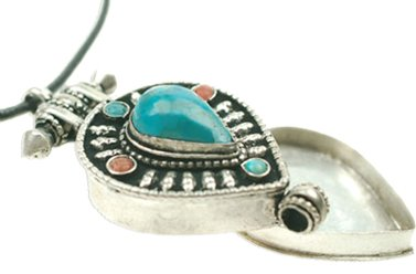 Costume Jewellery Tibetan Lockett Pendant - Silver , Janeo Men's (Ref Costume Ideas)