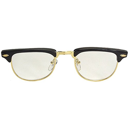 Mr. 50s Black Glasses