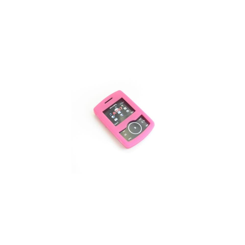 Samsung Propel A767 Trans. Pink Silicon Skin Case