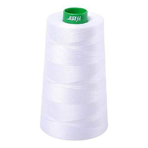 Aurifil 2024 40 Wt 100% Cotton Thread, 5,140 Yard Cone White by Aurifil
