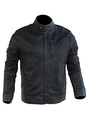 Jack Reacher Never Go Back Tom Cruise Real Leather Jacket (l) Black (Jack Reacher Never Go Back Leather Jacket)