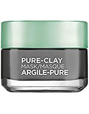 L'Oreal Paris Pure-Clay Cleansing Mask with 3 Mineral Clays + Charcoal, Energizes and Brightens Dull Skin, 50 ml