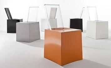 Kartell miss less sedia bianco bianco trasparente x