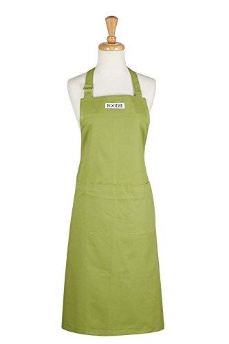Tie Apron (DII 100% Cotton, Gourmet Chef Bib Apron, Unisex Restaurant Kitchen Apron, Adjustable Neck Strap & Waist Ties, Machine Washable, Perfect for Cooking, Baking, BBQ, & More - Parsley)