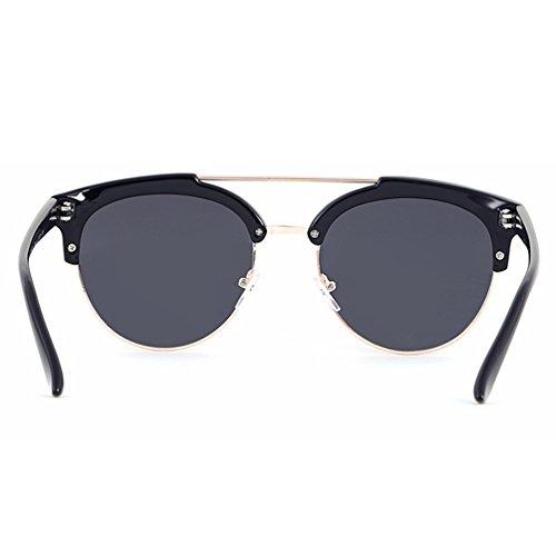 de des de Lunettes Vintage Oeil Lunettes soleil Lvguang Style Lunettes Ronde Sunglasses soleil 1 Cadre de Homme Conduire Chat Sans polarisées FOTqcwBCW