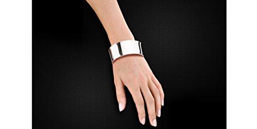 Clio Blue Bracelet manchette Les intemporels en argent 925, 20.6g, Ø60mm