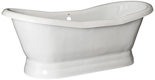 Restoria Bathtubs The Empress Bathtub White  Pedestal Base No Drilings