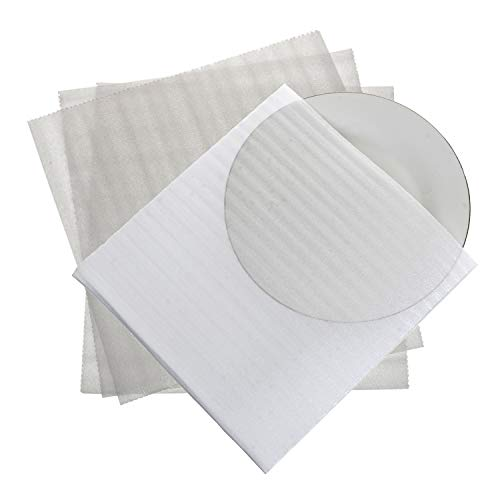 "50 CT - Foam Wrap Cup Pouches 11 7/8"" x 12 1/8"", Cushion Pouches to Protect Dishes, Glasses, Porcelain & Fragile Items, Packing Supplies for Moving by California Basics"