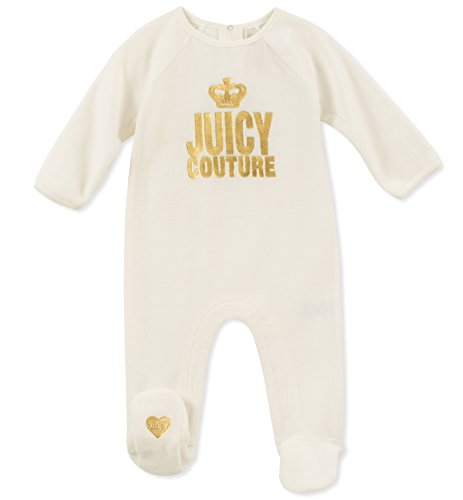 Juicy Couture Baby Girls Coverall, Silent Vanilla, 3-6 Months