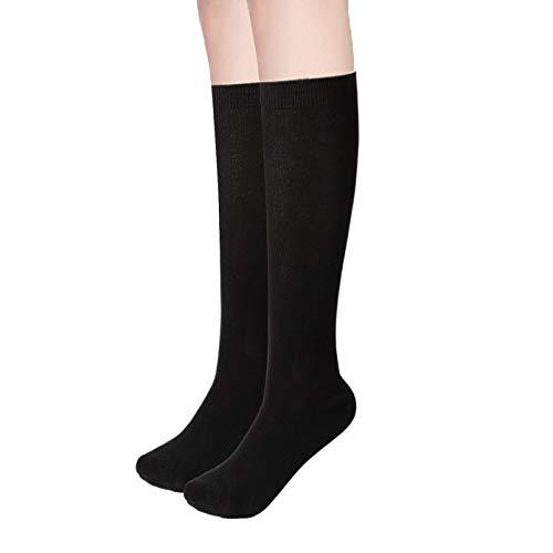 Womens Bamboo Casual Knee High Socks Seamless Toe Breathable Student/Teacher/Travel/Athletic Medium