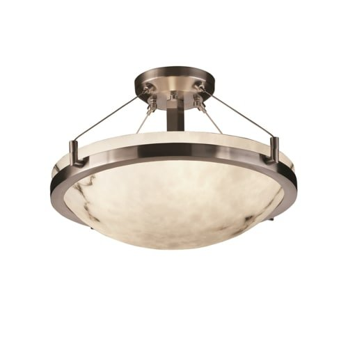 Justice Design Group Lighting FAL-9681-35-NCKL-LED3-3000 LumenAria-Ring 21