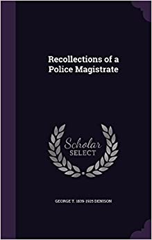 Book Recollections of a Police Magistrate