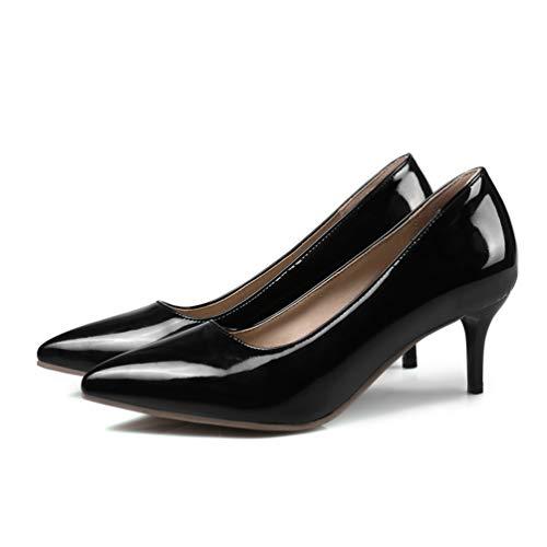 Femmes Femme Dames Escarpins Hauts Mariage de Talon Chaussures Talons Noir Chaussures Chaussures Escarpins rq0fr4