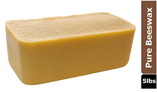 All Natural Beeswax, Made in USA (5 lb)