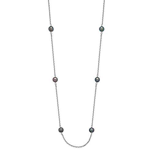 Bonyak Jewelry 14K WG 4-5mm...