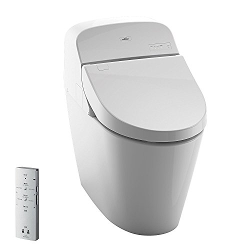 Toto MS920CEMFG#01 1.28-GPF/0.9-GPF Washlet with Integrated Toilet G400, Cotton White (Toilet Electronic)