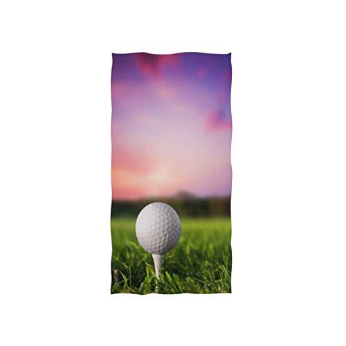 (TropicalLife Sport Golf Ball Ultra Soft Beach Bath Towel Lightweight Multipurpose Towels for Bathroom Travel Sports Gym Spa Hotel Decorative, 15x30 Inch)