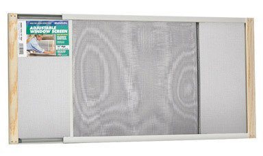 Marvin Adjustable Window Screen 15'' Tall, 45''W, Extends From 25'' To 45''W Steel Charcoal Extends From