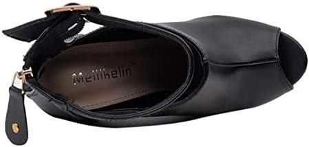 Femmes Bottes Zip Chaussures Femme Pointu Peep Toe Super High Spike Heel Chaussures Buckle Strap