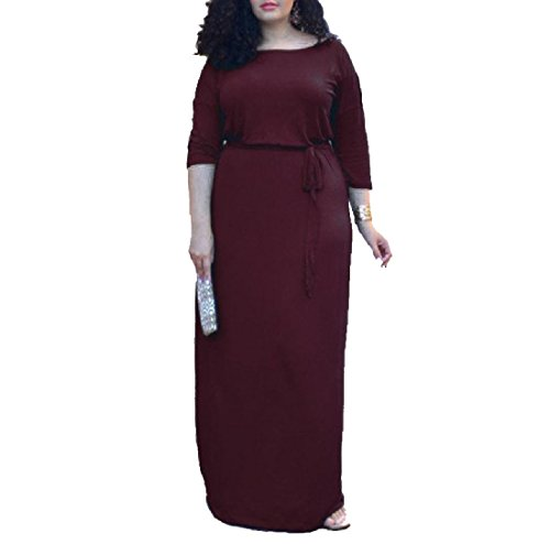 Red Dress Coolred Solid 4 Wine Oversized Party Cocktail Sleeve Women 3 8Bvq4