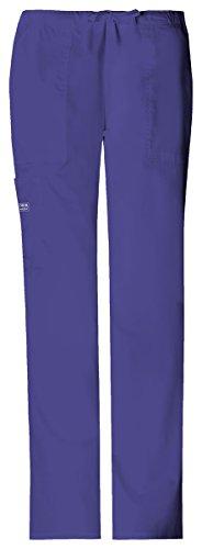 Flare Cargo Jeans - Cherokee Women's Flare Legged Drawstring Cargo Pant_Grape_Large Tall